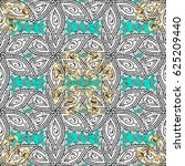 vintage pattern on blue... | Shutterstock . vector #625209440