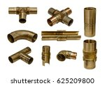 set of plumbing knee isolated... | Shutterstock . vector #625209800