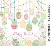invitation happy easter... | Shutterstock .eps vector #625215830