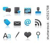 blogging icon set 4        blue ... | Shutterstock .eps vector #62521708