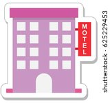 hotel vector icon   Shutterstock .eps vector #625229453