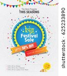 Festival Sale Template Design on Floral Background