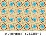 seamless pattern of abstrat... | Shutterstock . vector #625235948