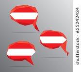 polygon speech bubble flag  ... | Shutterstock .eps vector #625242434