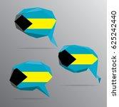 polygon speech bubble flag  ... | Shutterstock .eps vector #625242440