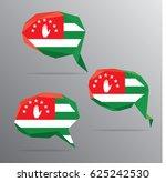 polygon speech bubble flag  ... | Shutterstock .eps vector #625242530