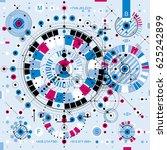 architectural blueprint ... | Shutterstock . vector #625242899