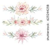 hand drawn watercolor saguaro... | Shutterstock . vector #625244258