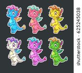Funny Colorful Dragon Stickers...