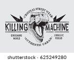 dangerous tyranosaur head ... | Shutterstock .eps vector #625249280