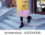 fashionable young woman in... | Shutterstock . vector #625254200