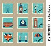 london icon set | Shutterstock .eps vector #625256120