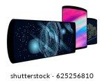 set of realistic smartphones... | Shutterstock . vector #625256810