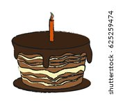 birthday cake icon | Shutterstock .eps vector #625259474