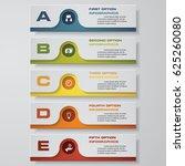 design clean number banners... | Shutterstock .eps vector #625260080