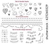 set of doodle elements  vector... | Shutterstock .eps vector #625260329