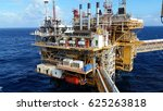 offshore construction platform... | Shutterstock . vector #625263818