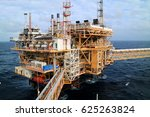 offshore construction platform... | Shutterstock . vector #625263824