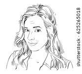 monochrome hand drawn image ...   Shutterstock . vector #625265018