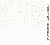 golden confetti and ribbon... | Shutterstock .eps vector #625265060