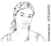 drawing of distrustful woman...   Shutterstock . vector #625265453