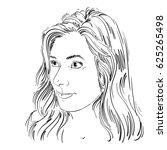 portrait of attractive...   Shutterstock . vector #625265498