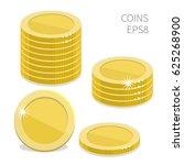 stacks of golden coins. vector... | Shutterstock .eps vector #625268900
