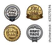 set of graffiti handmade badges ... | Shutterstock .eps vector #625270196