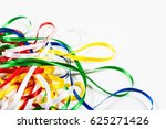 many color ribbons on white... | Shutterstock . vector #625271426