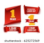 set of five red  realistic 1... | Shutterstock .eps vector #625272569