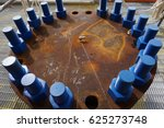 end flange of 24 inches pipe...   Shutterstock . vector #625273748