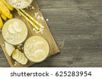 useful smoothies with a banana... | Shutterstock . vector #625283954