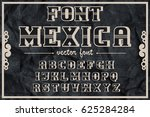 font mexica   handcrafted... | Shutterstock .eps vector #625284284