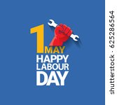 happy labour day vector label... | Shutterstock .eps vector #625286564