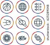 sphere icons set. set of 9... | Shutterstock .eps vector #625289048