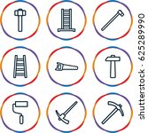 improvement icons set. set of 9 ... | Shutterstock .eps vector #625289990