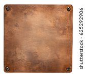 copper plate with rounded... | Shutterstock . vector #625292906