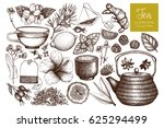 vector collection of hand drawn ... | Shutterstock .eps vector #625294499