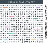 premium flat icon set in vector ...