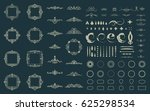 circle and square wicker... | Shutterstock .eps vector #625298534