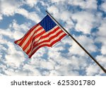 us national flag against the... | Shutterstock . vector #625301780