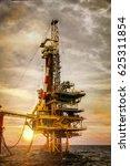 Offshore Oil Rig  Platform In...