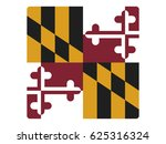 square vector flag of maryland | Shutterstock .eps vector #625316324