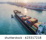 container ship vessel... | Shutterstock . vector #625317218
