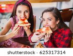 two happy women sit at the...   Shutterstock . vector #625317314