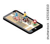 isometric location. mobile geo... | Shutterstock .eps vector #625318310