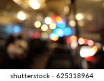 bokeh lights in the bus... | Shutterstock . vector #625318964