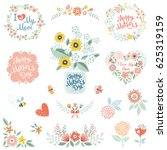 mother's day collection with... | Shutterstock .eps vector #625319159