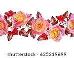 garland  a bouquet of delicate... | Shutterstock . vector #625319699