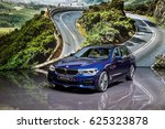 Small photo of GENEVA 2017: BMW serie 5 Touring car on display at 87th international Geneva motor Show at Palexpo-Geneva on March 9, 2017 at Geneva, Switzerland.